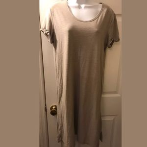 👗JAMES PERSE Rolled Sleeve T-Shirt Dress Scoop